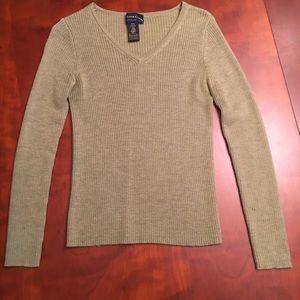 Charter Club ribbed v-neck Merino wool sweater